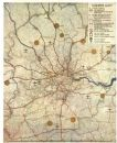 GREATER LONDON PLAN. Railways electrification airports. ABERCROMBIE, 1944 map